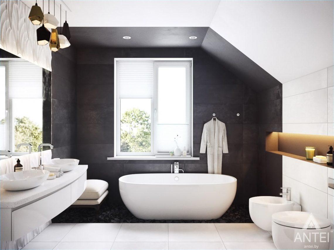 Дизайн интерьера коттеджа в Гомеле, Романовичи - ванная фото №1