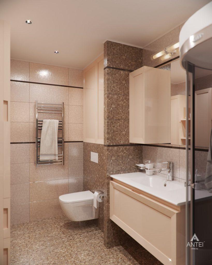 Дизайн интерьера 1-комнатной квартиры в Гомеле, ул. Пенязькова - ванная фото №2