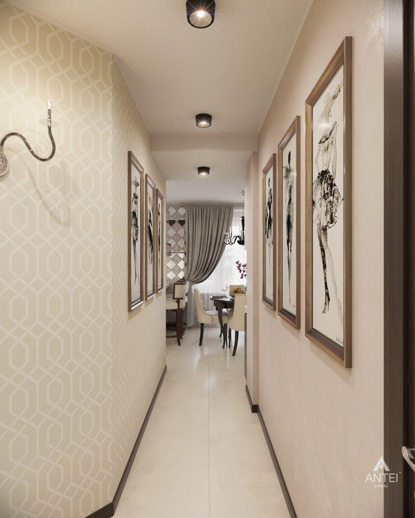 Дизайн интерьера 1-комнатной квартиры в Гомеле, ул. Пенязькова - прихожая фото №1