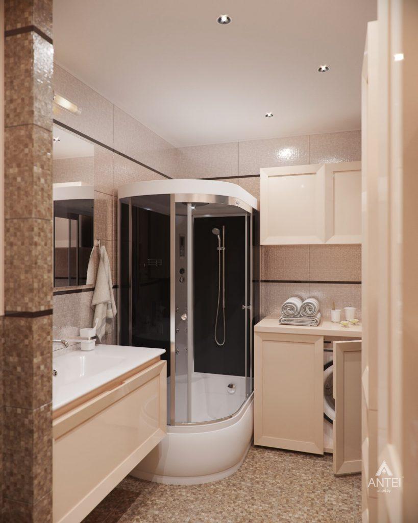Дизайн интерьера 1-комнатной квартиры в Гомеле, ул. Пенязькова - ванная фото №1