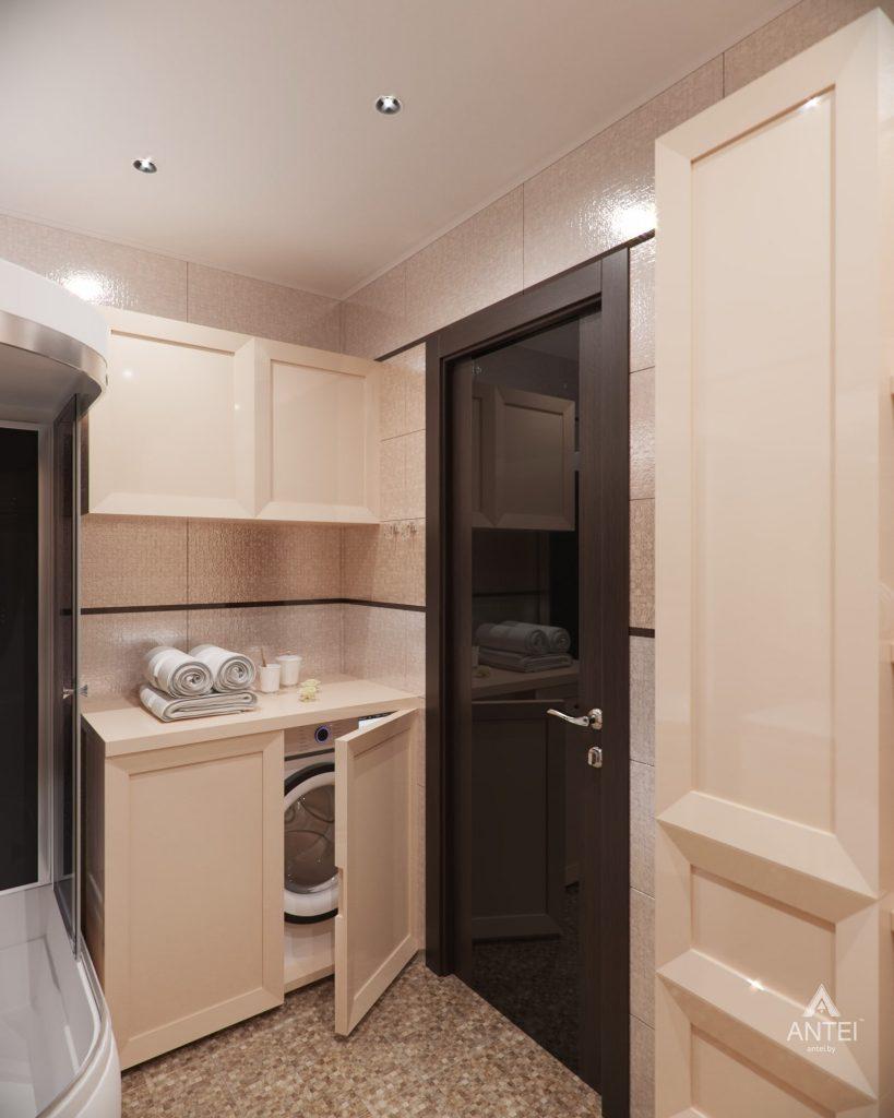 Дизайн интерьера 1-комнатной квартиры в Гомеле, ул. Пенязькова - ванная фото №3