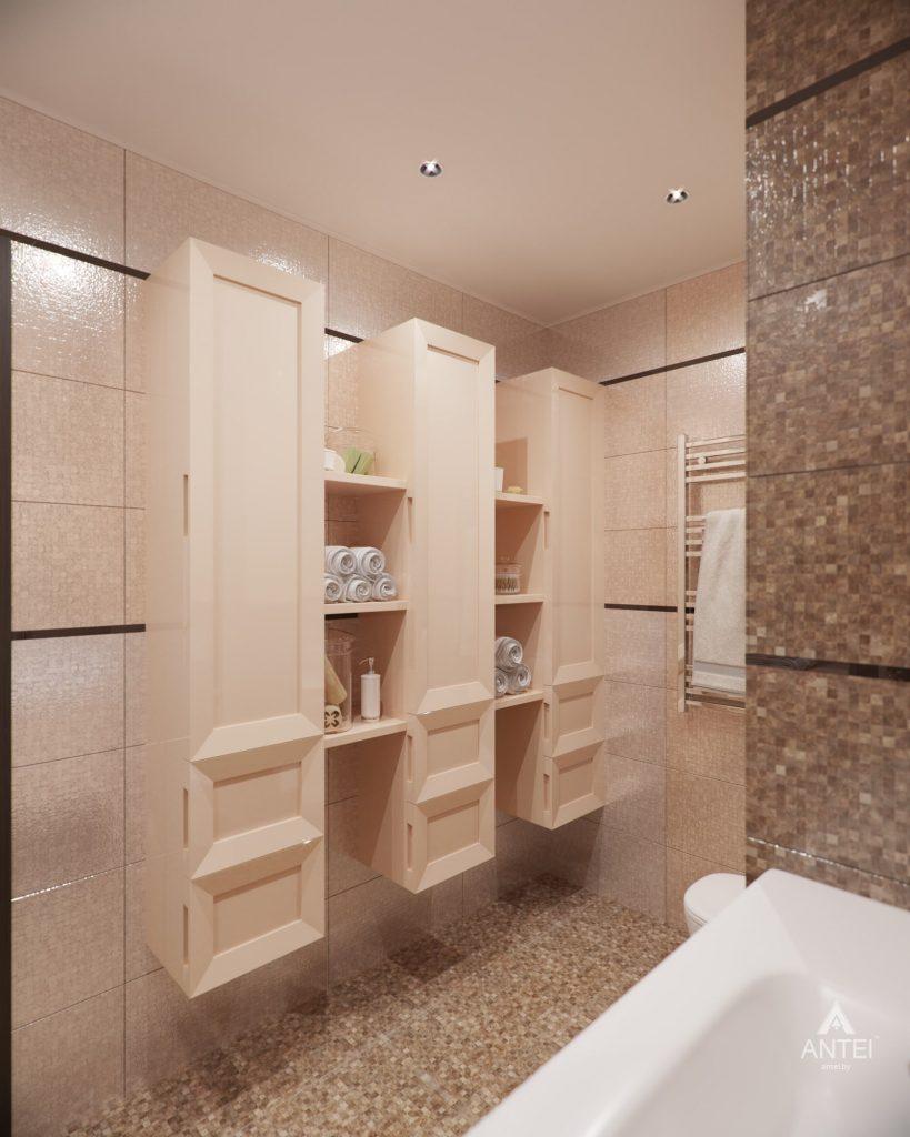 Дизайн интерьера 1-комнатной квартиры в Гомеле, ул. Пенязькова - ванная фото №4