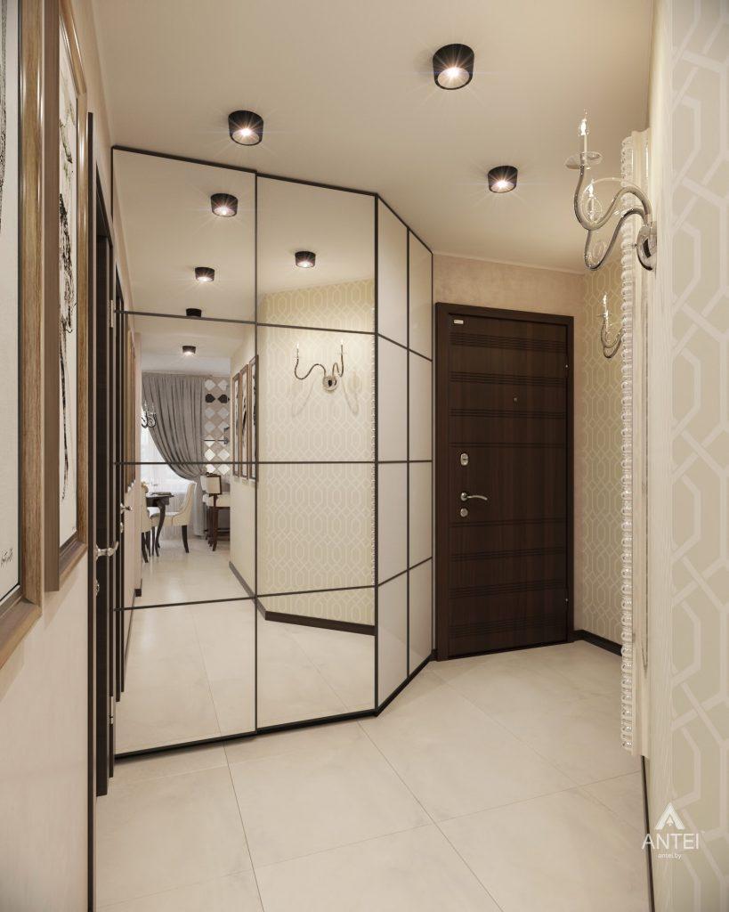 Дизайн интерьера 1-комнатной квартиры в Гомеле, ул. Пенязькова - прихожая фото №3
