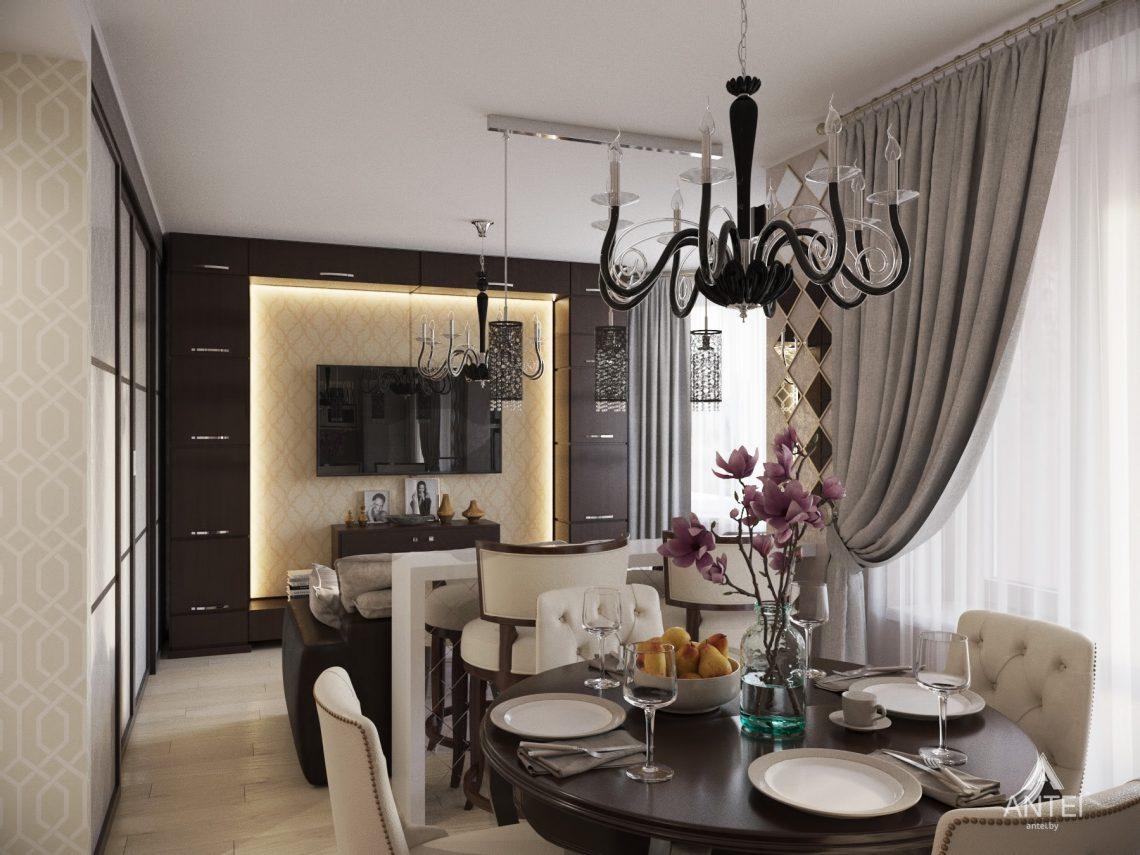 Дизайн интерьера 1-комнатной квартиры в Гомеле, ул. Пенязькова -гостиная фото №1