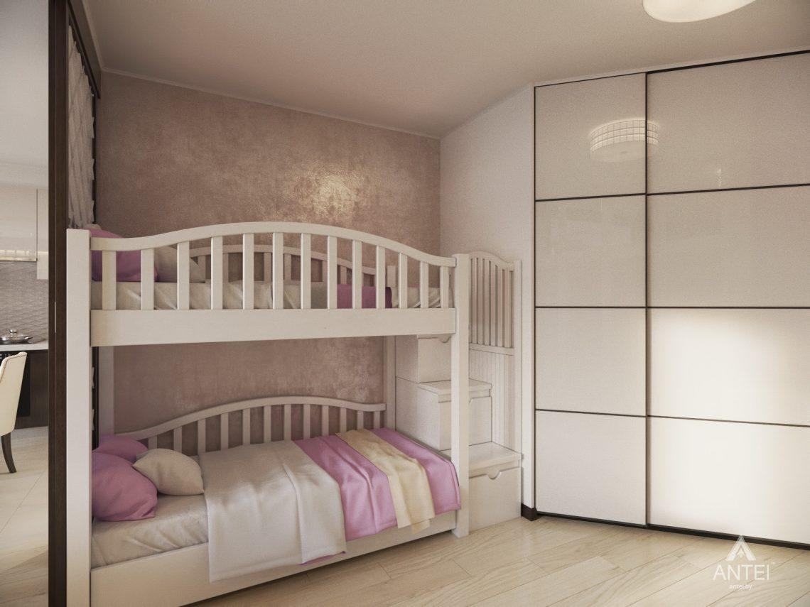 Дизайн интерьера 1-комнатной квартиры в Гомеле, ул. Пенязькова - спальня фото №1
