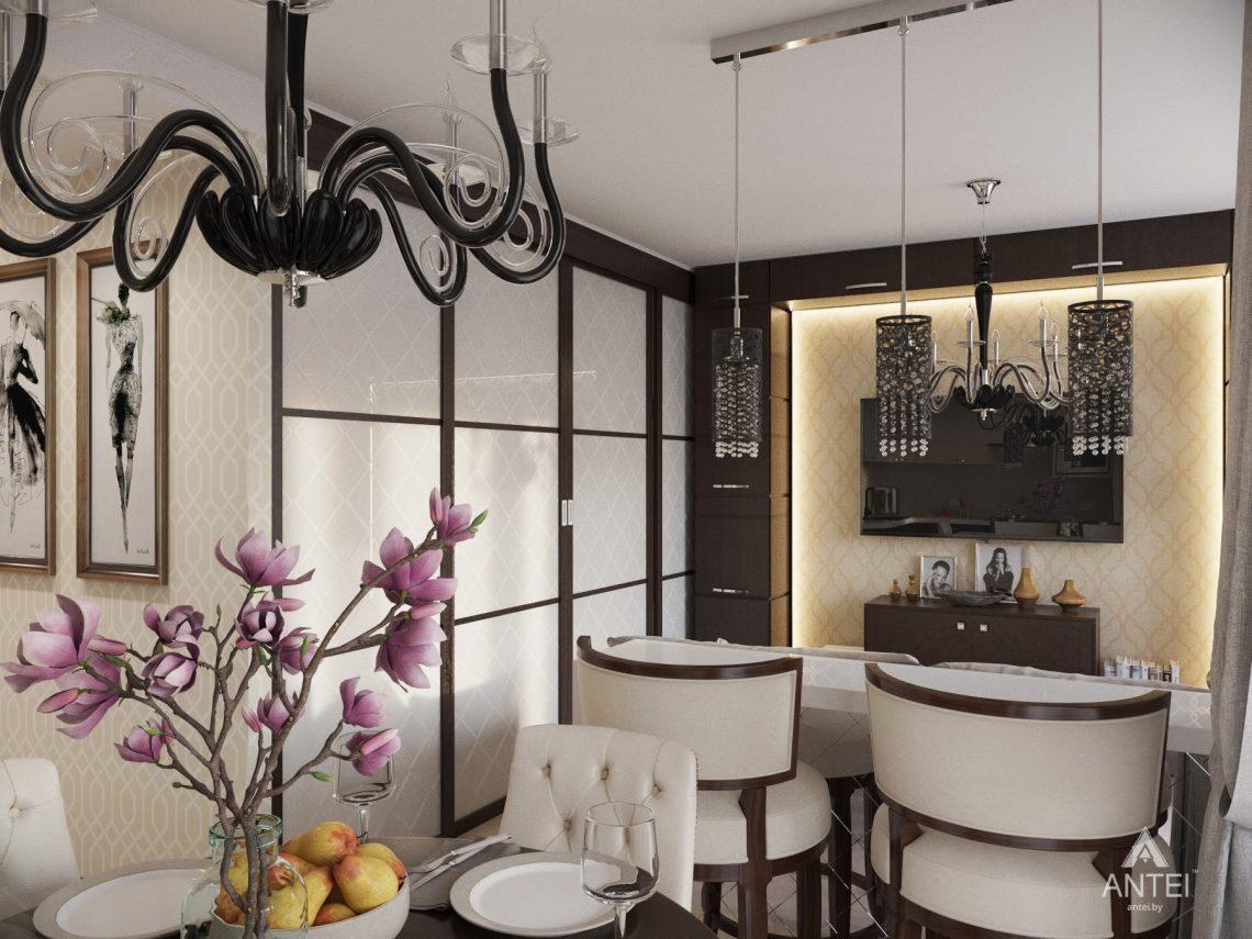 Дизайн интерьера 1-комнатной квартиры в Гомеле, ул. Пенязькова -кухня фото №2