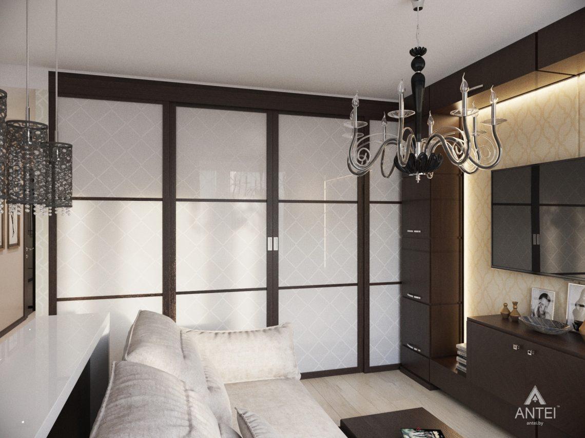 Дизайн интерьера 1-комнатной квартиры в Гомеле, ул. Пенязькова -гостиная фото №4