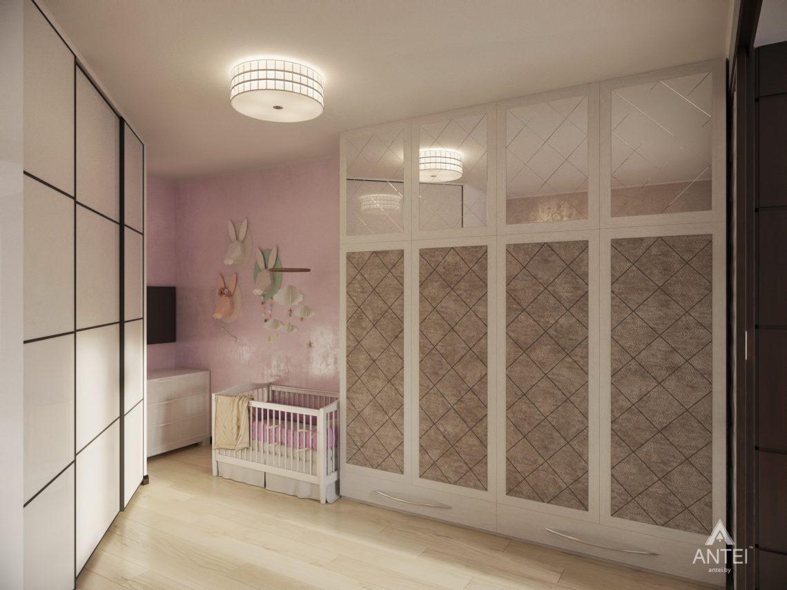 Дизайн интерьера 1-комнатной квартиры в Гомеле, ул. Пенязькова - спальня фото №3