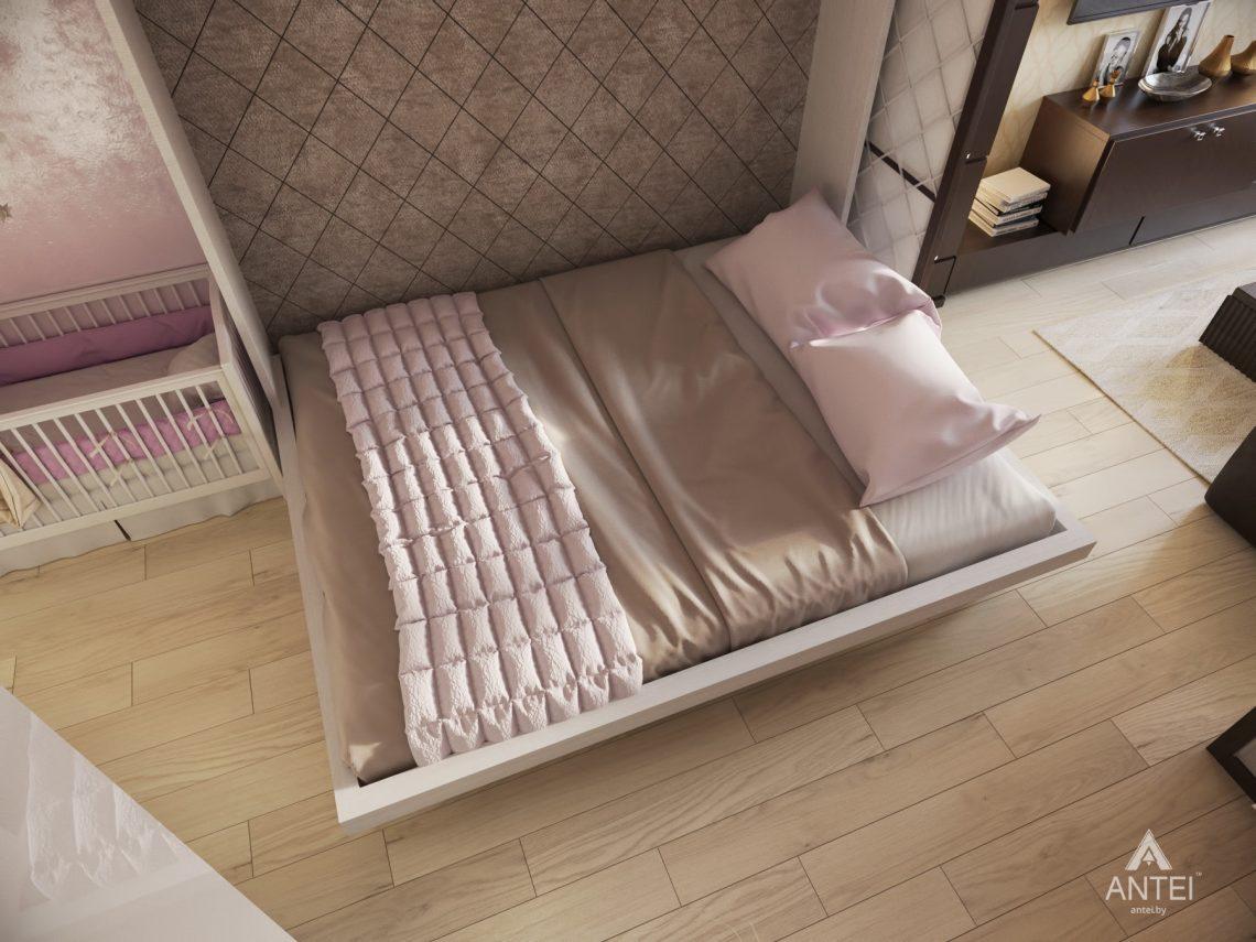 Дизайн интерьера 1-комнатной квартиры в Гомеле, ул. Пенязькова - спальня фото №2