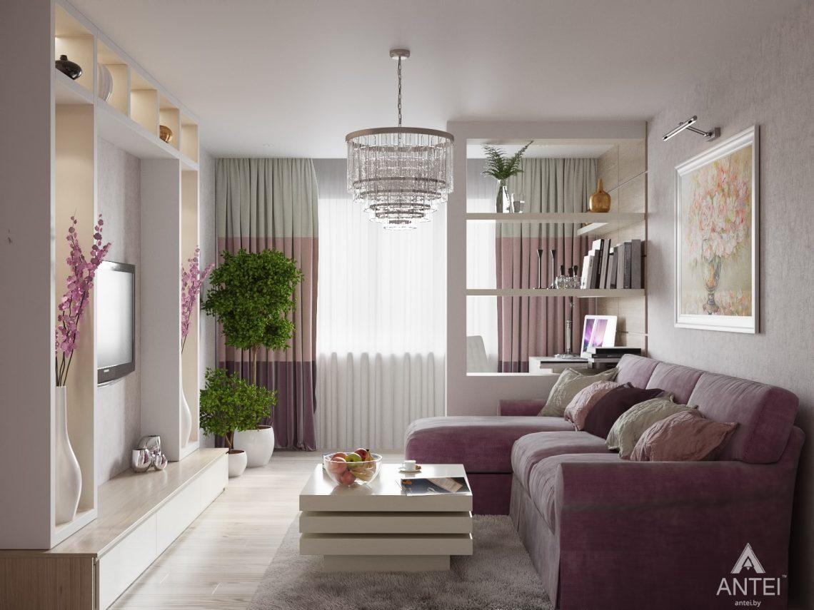 Дизайн интерьера квартиры в Гомеле, ул. Мазурова - гостиная фото №1