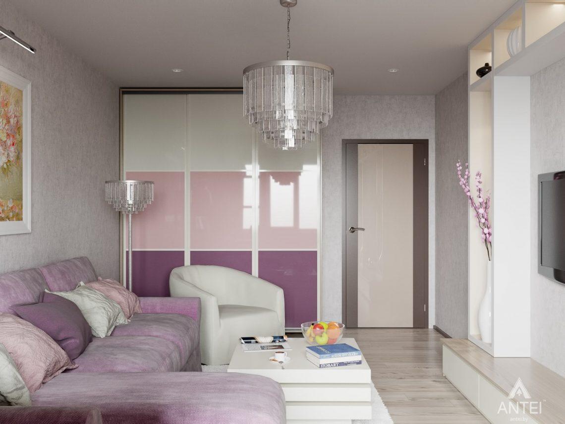 Дизайн интерьера квартиры в Гомеле, ул. Мазурова - гостиная фото №2