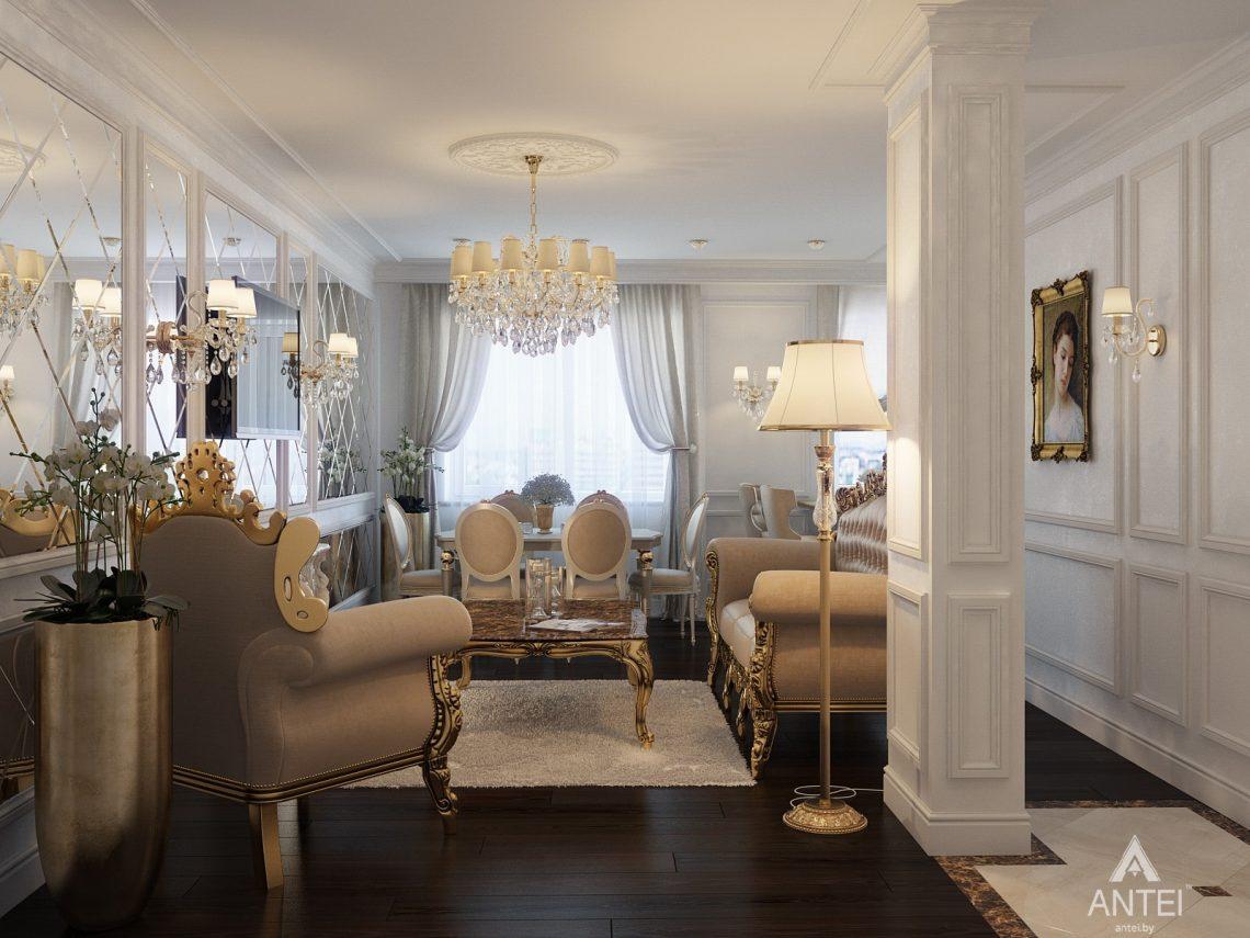 Дизайн интерьера квартиры в Минске, пр. Победителей - гостиная фото №1