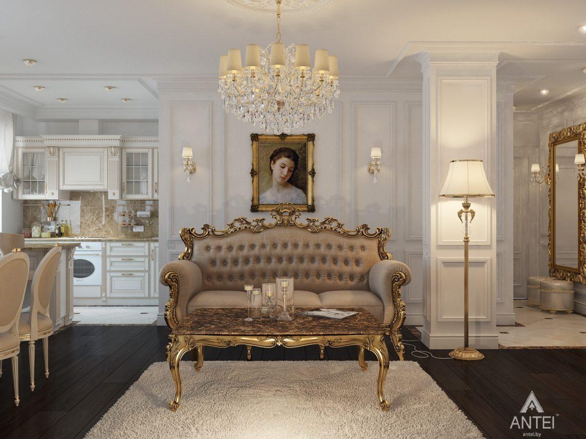 Дизайн интерьера квартиры в Минске, пр. Победителей - гостиная фото №2