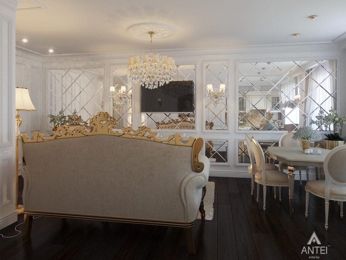 Дизайн интерьера квартиры в Минске, пр. Победителей - гостиная фото №6