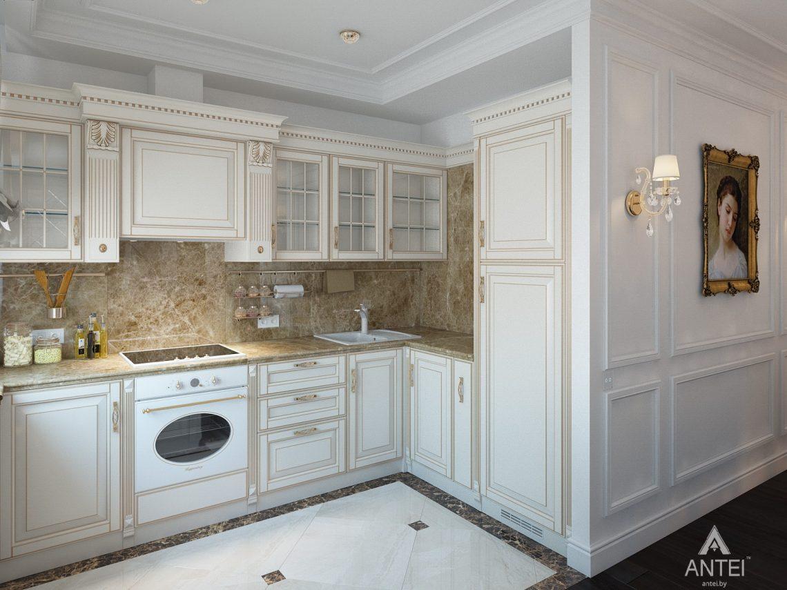 Дизайн интерьера квартиры в Минске, пр. Победителей - кухня фото №1