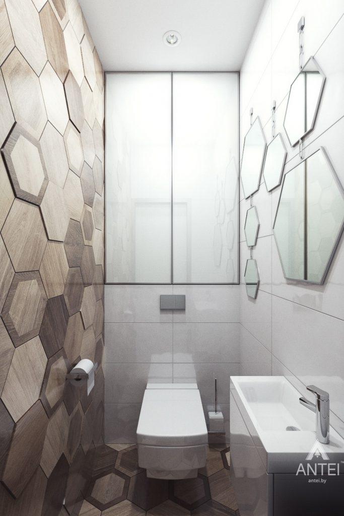 Дизайн интерьера коттеджа в Гомеле, Романовичи - туалет фото №1