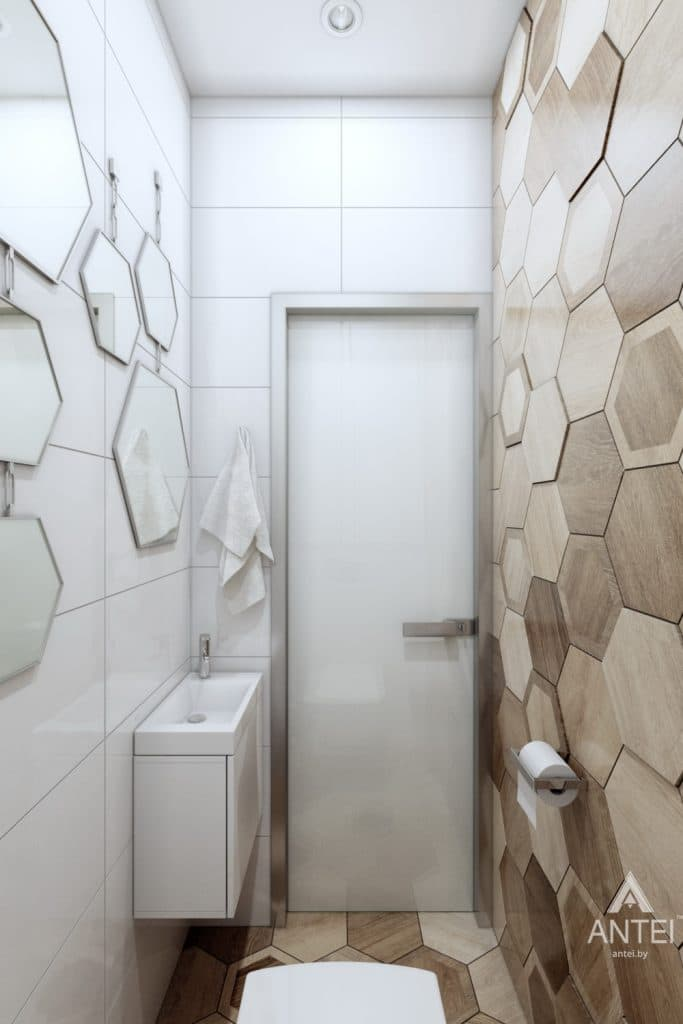 Дизайн интерьера коттеджа в Гомеле, Романовичи - туалет фото №2