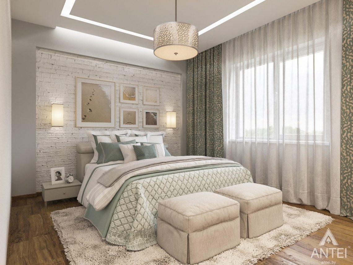 Дизайн интерьера загородного дома в Минском районе - спальня фото №3