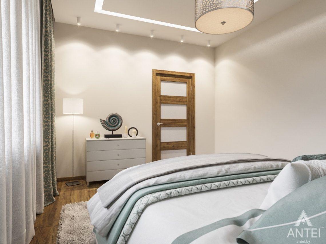 Дизайн интерьера загородного дома в Минском районе - спальня фото №2