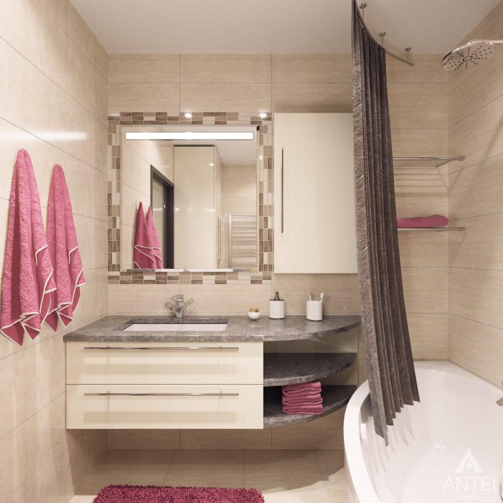 Дизайн интерьера квартиры в Гомеле, ул. Мазурова - ванная фото №1