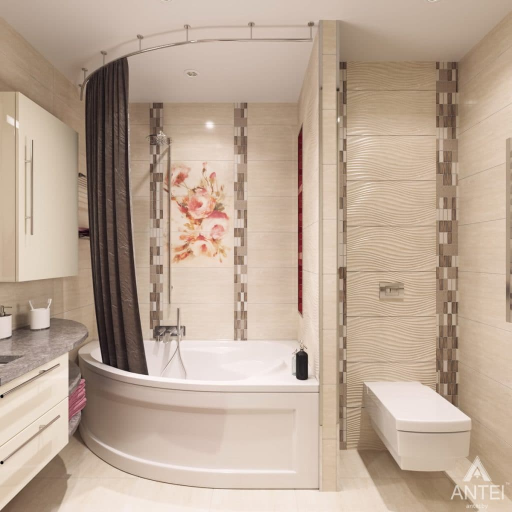 Дизайн интерьера квартиры в Гомеле, ул. Мазурова - ванная фото №2
