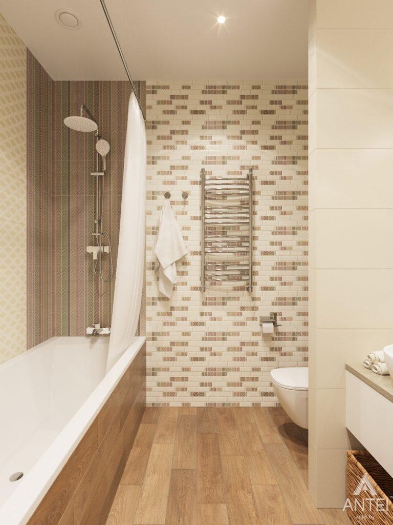 Дизайн интерьера загородного дома в Минском районе - ванная фото №4