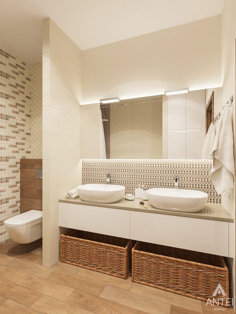 Дизайн интерьера загородного дома в Минском районе - ванная фото №3