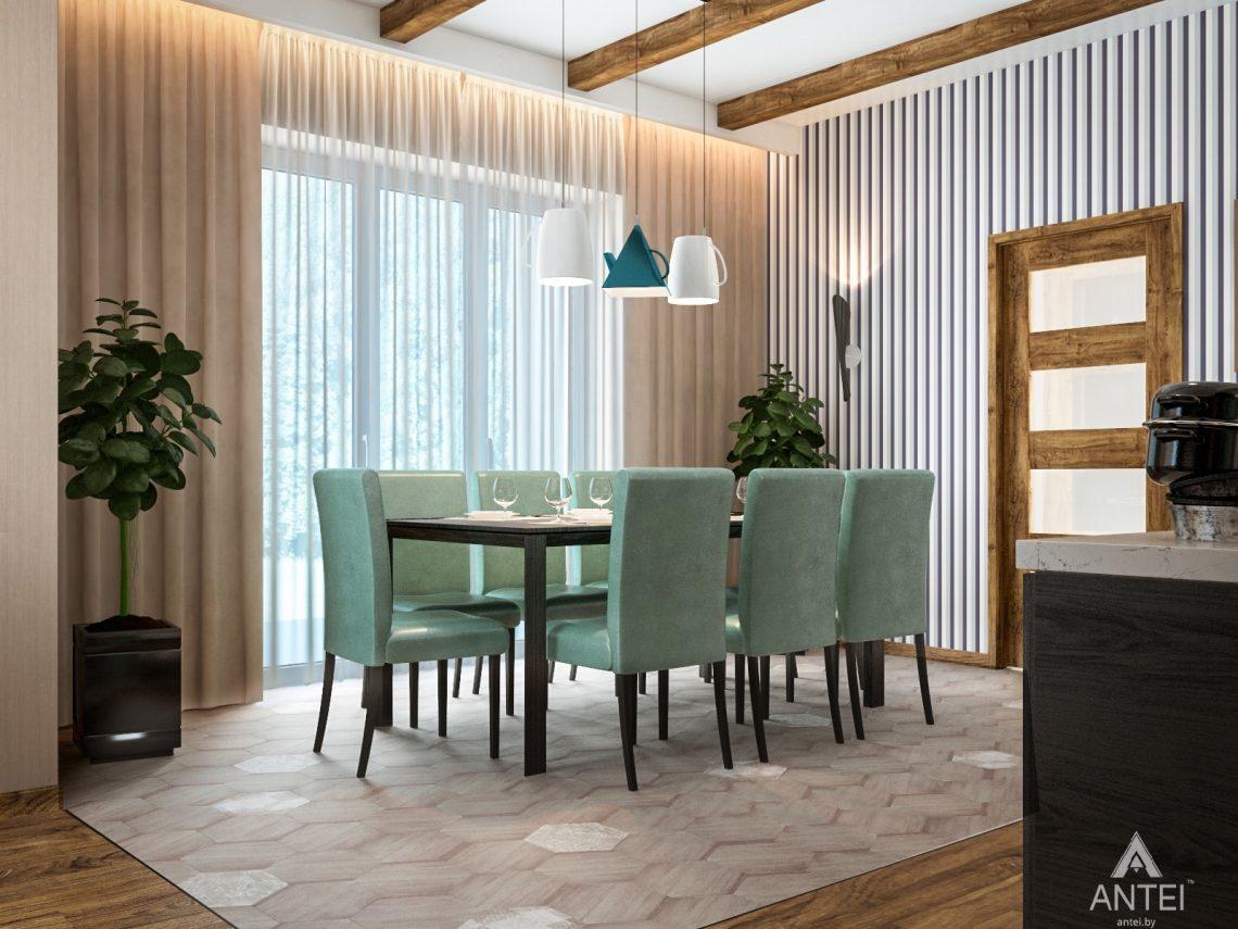 Дизайн интерьера загородного дома в Минском районе - кухня фото №4