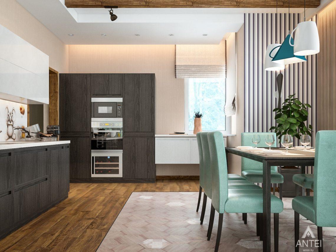 Дизайн интерьера загородного дома в Минском районе - кухня фото №1