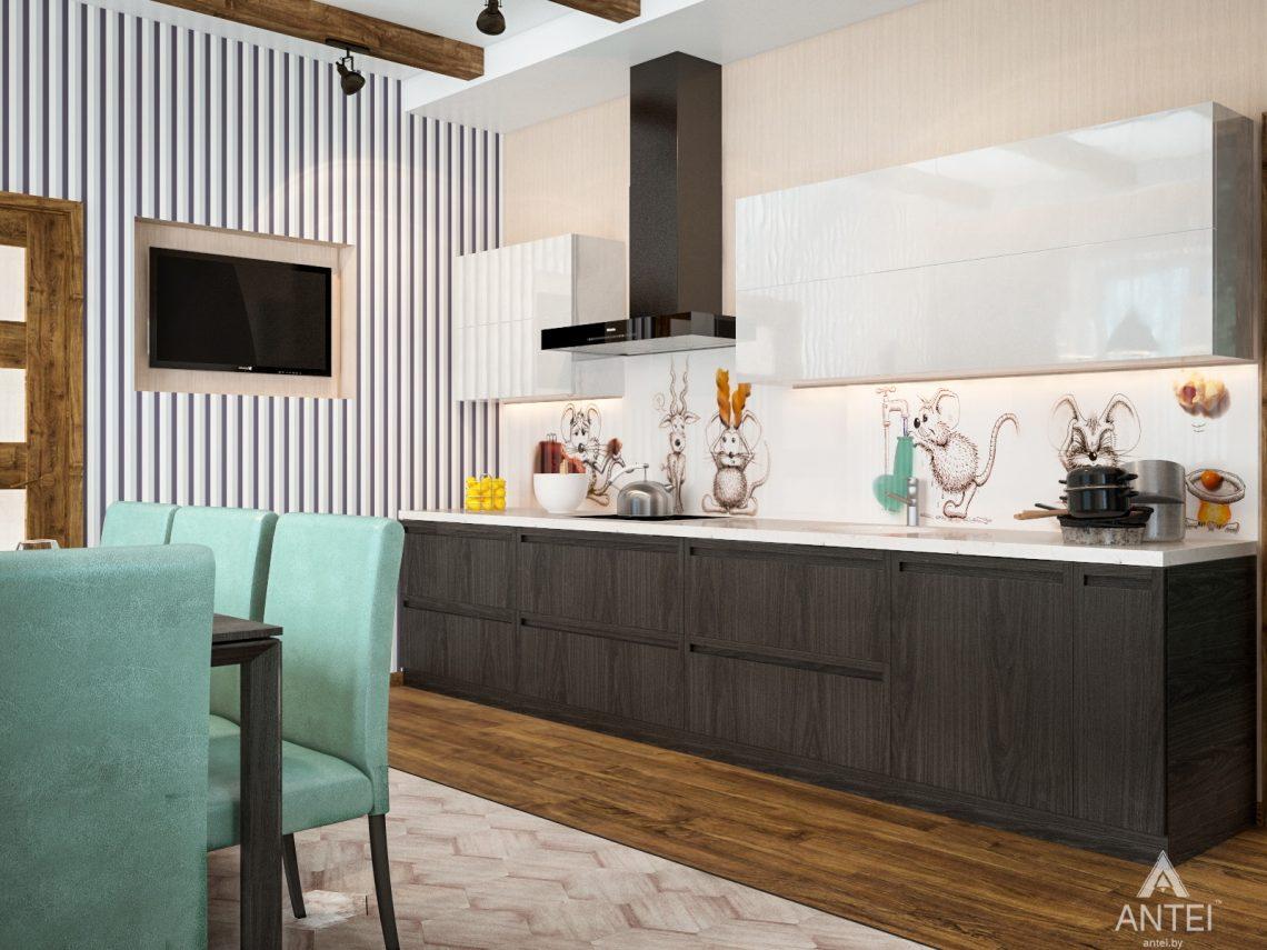 Дизайн интерьера загородного дома в Минском районе - кухня фото №2