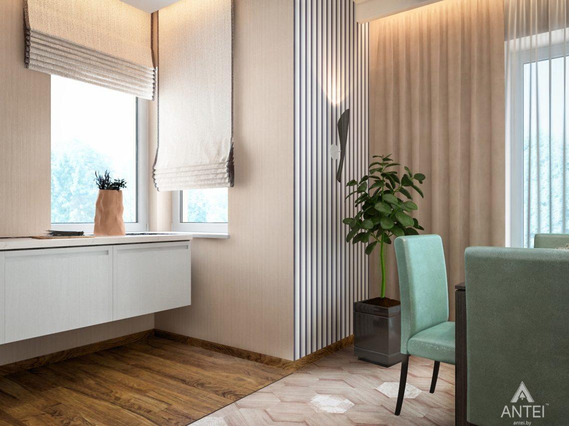 Дизайн интерьера загородного дома в Минском районе - кухня фото №3