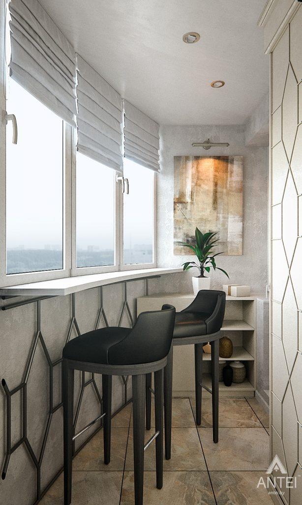 Дизайн интерьера 1-комнатной квартиры в Гомеле, ул. Ландышева - лоджия фото №2