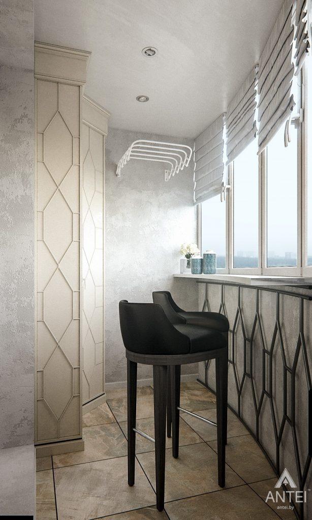 Дизайн интерьера 1-комнатной квартиры в Гомеле, ул. Ландышева - лоджия фото №1