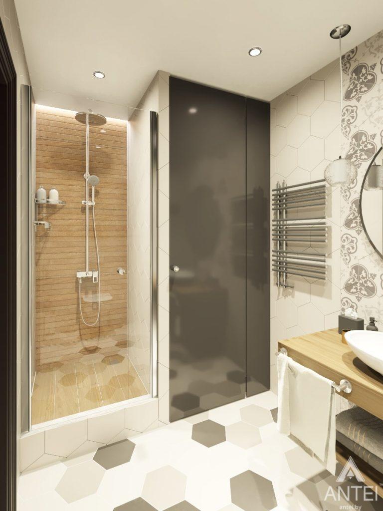 Дизайн интерьера 1-комнатной квартиры в Гомеле, ул. Ландышева - ванная фото №1