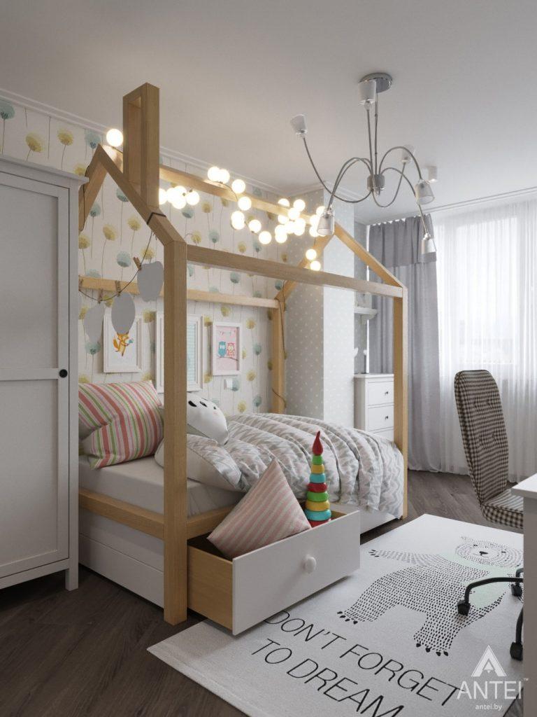 Дизайн интерьера квартиры в Гомеле, ул. Т.С. Бородина - детская комната для девочки фото №1