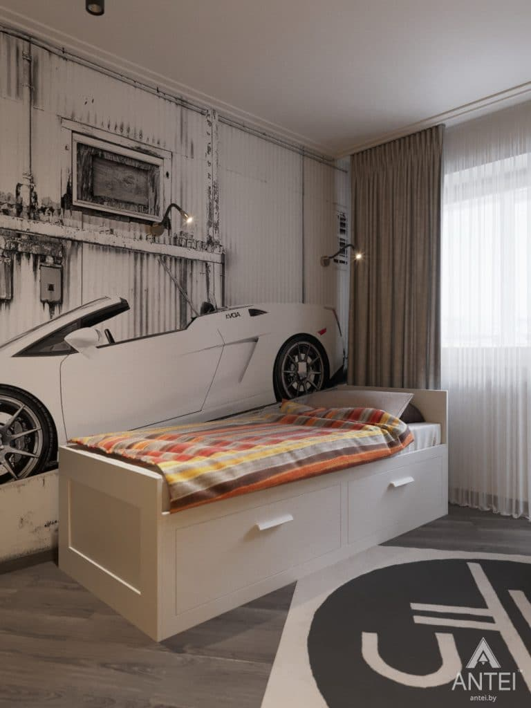 Дизайн интерьера квартиры в Гомеле, ул. Т.С. Бородина - детская комната для мальчика фото №2