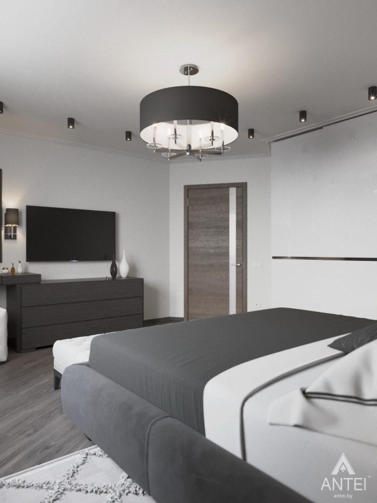 Дизайн интерьера квартиры в Гомеле, ул. Т.С. Бородина - спальня фото №3