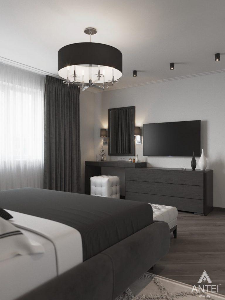 Дизайн интерьера квартиры в Гомеле, ул. Т.С. Бородина - спальня фото №2
