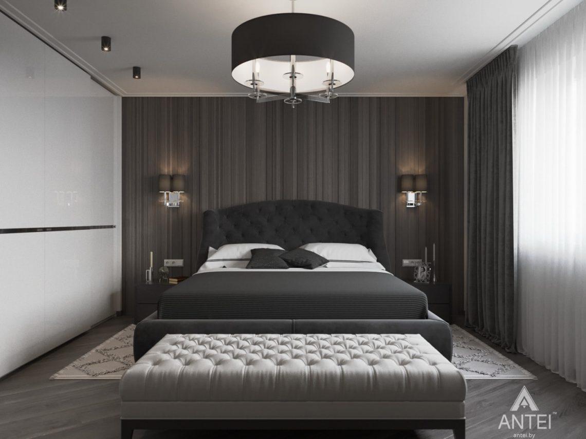 Дизайн интерьера квартиры в Гомеле, ул. Т.С. Бородина - спальня фото №1