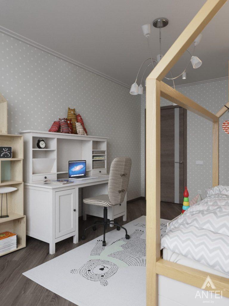 Дизайн интерьера квартиры в Гомеле, ул. Т.С. Бородина - детская комната для девочки фото №3