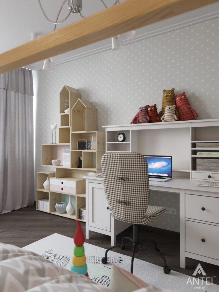Дизайн интерьера квартиры в Гомеле, ул. Т.С. Бородина - детская комната для девочки фото №4