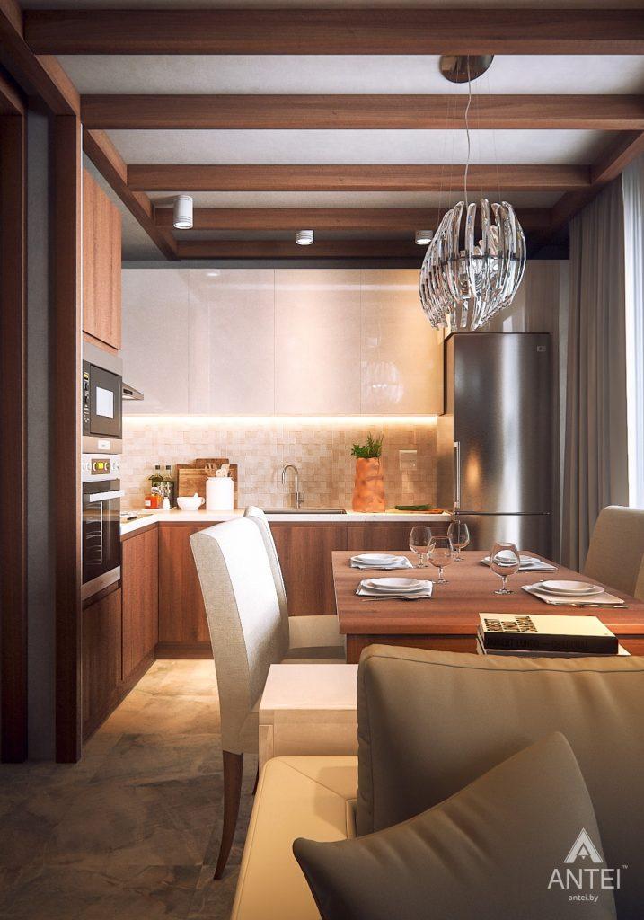 Дизайн интерьера 1-комнатной квартиры в Гомеле, ул. Ландышева - кухня фото №1