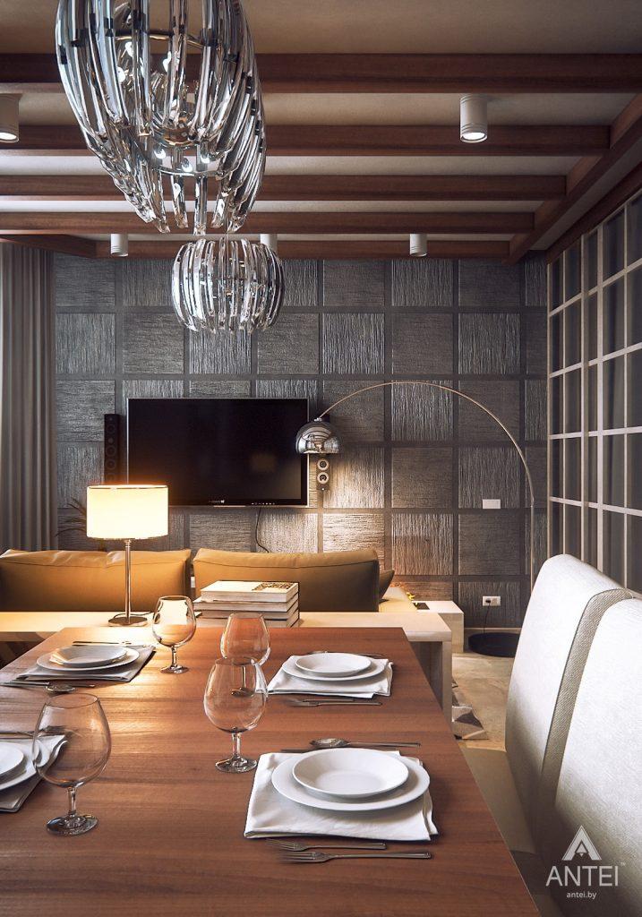Дизайн интерьера 1-комнатной квартиры в Гомеле, ул. Ландышева - гостиная фото №1