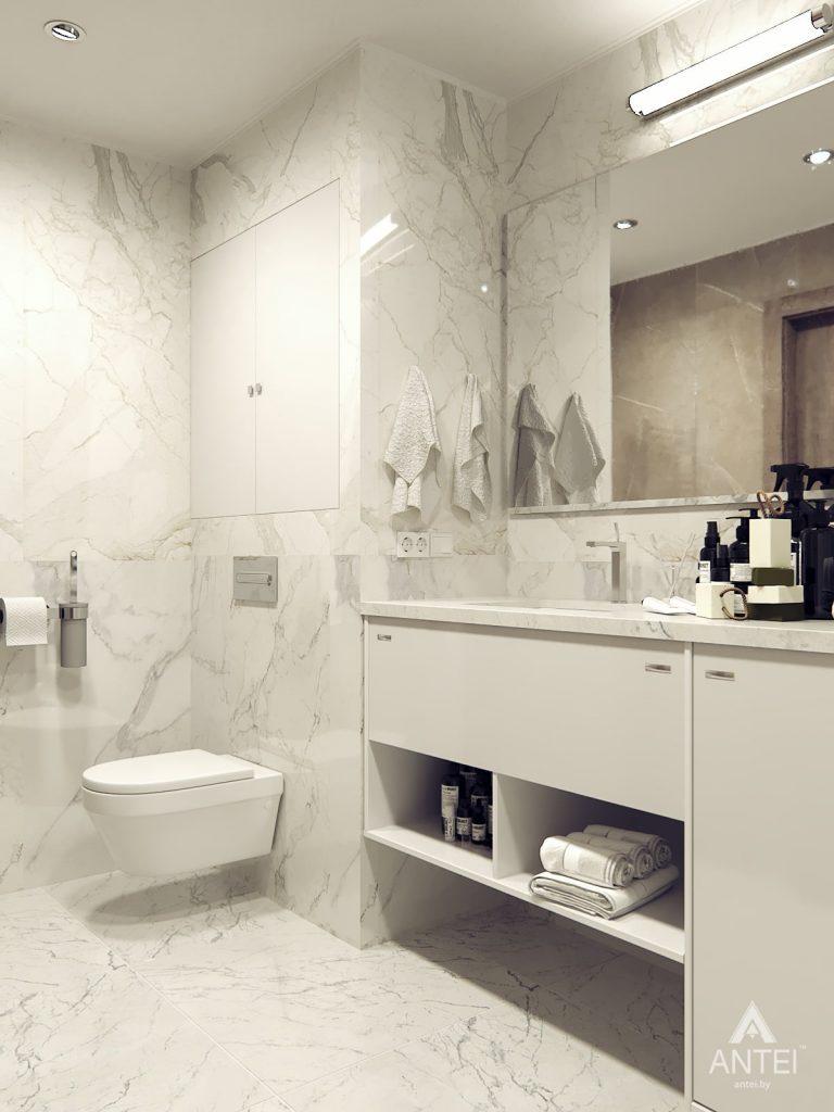 Дизайн интерьера квартиры в Гомеле, ул. Т.С. Бородина - ванная фото №1