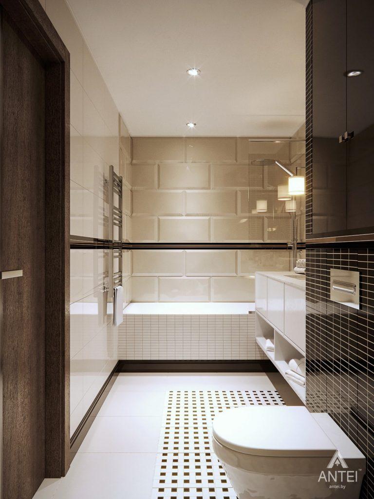 Дизайн интерьера квартиры в Гомеле, ул. Т.С. Бородина - ванная фото №6