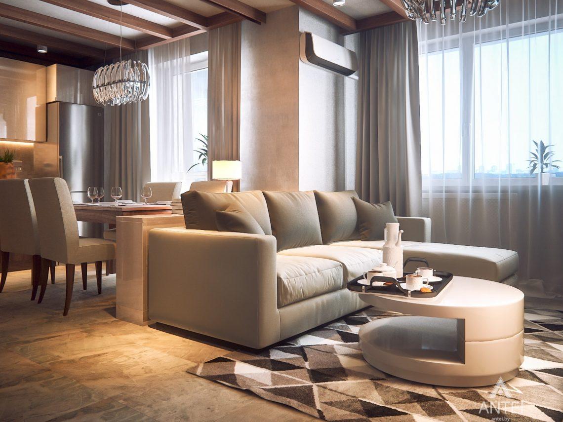 Дизайн интерьера 1-комнатной квартиры в Гомеле, ул. Ландышева - гостиная фото №3