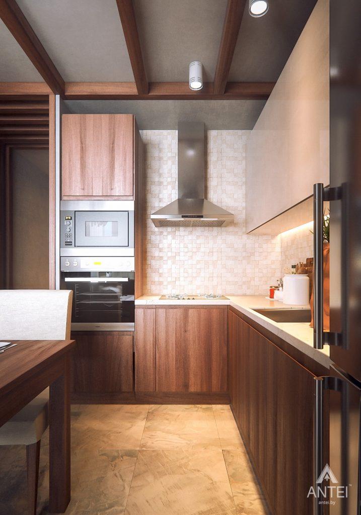 Дизайн интерьера 1-комнатной квартиры в Гомеле, ул. Ландышева - кухня фото №2