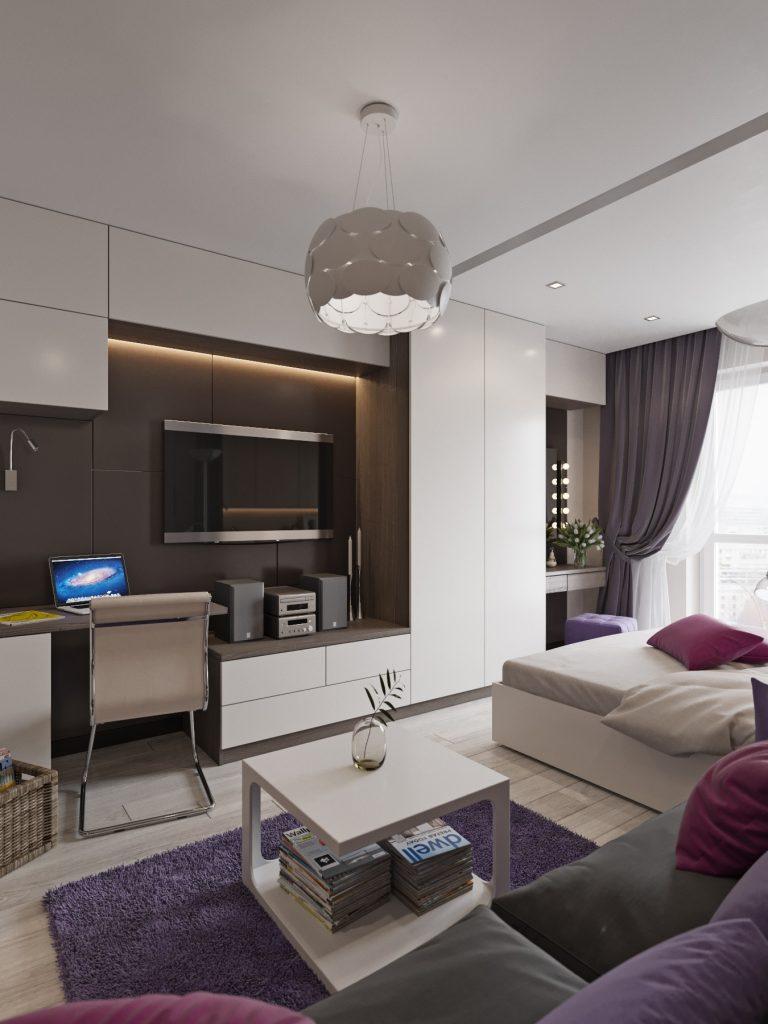Дизайн интерьера квартиры в Гомеле, ул. Григория Денисенко - гостиная фото №2