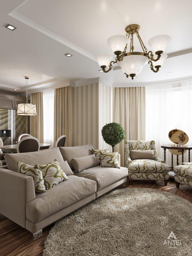 Дизайн интерьера квартиры в Гомеле, ул. Тельмана - кухня-гостиная фото №4