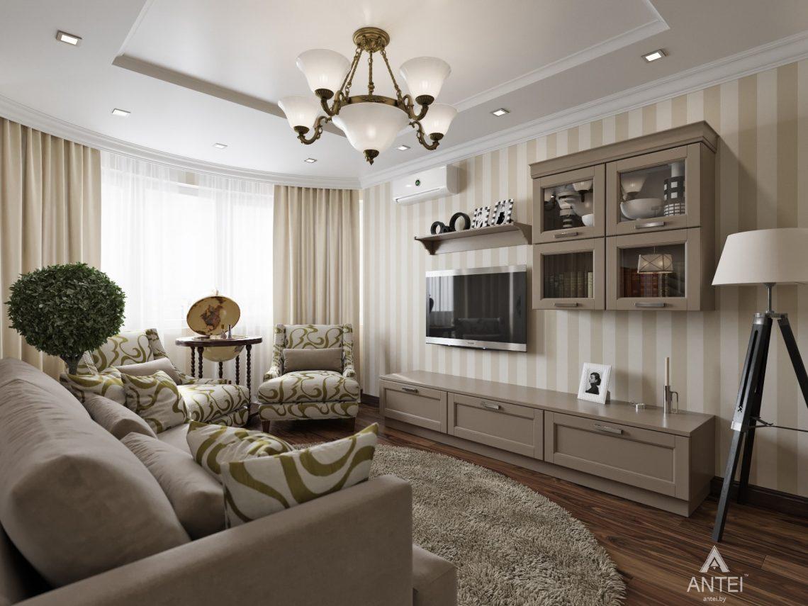 Дизайн интерьера квартиры в Гомеле, ул. Тельмана - кухня-гостиная фото №3